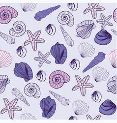 sea life marine seamless pattern texture vector image