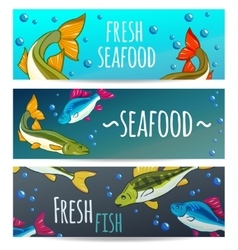 Seafood Restaurant Seafood Background Fresh fish vector image