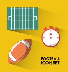 Set concept icon american football sport vector