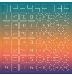 Set of mathematical symbols vector image