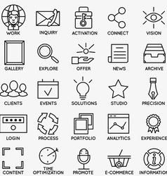 Set of seo and internet service icons - part 7 vector image