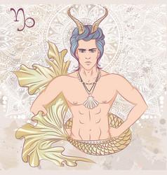 sign capricorn as a man vector image