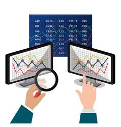 Stock market and exchange vector