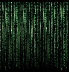 Stream binary code on screen abstract vector