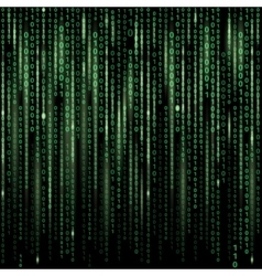 Stream of binary code on screen abstract vector