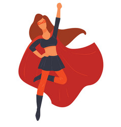 super hero female character wearing costume vector image
