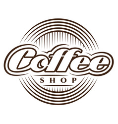 template in retro style for coffee shop vector image