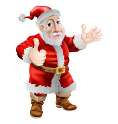 thumbs up cartoon santa vector image