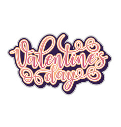 valentines day inspirational lettering vector image