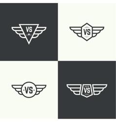 Versus sign vector image