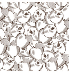 vintage apple seamless pattern vector image