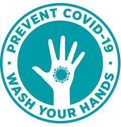 Wash your hands to prevent covid-19 vector