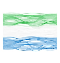 Wave line flag of Sierra Leone vector