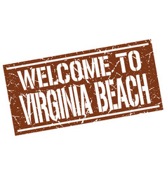 Welcome to virginia beach stamp vector