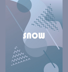 Winter background with gradients vector