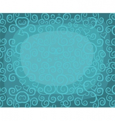 curly background vector image