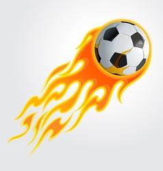 Flaming soccer ball vector image vector image