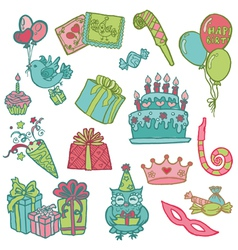 Hand drawn Birthday Celebrations vector image vector image