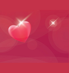 Heart romantic red background vector