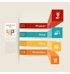4P Business Marketing Concept vector image vector image