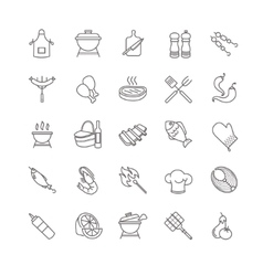 barbecue and grill icons vector image vector image