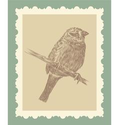 Hand drawing bird sketch vector image