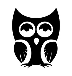 Owl black icon vector image vector image