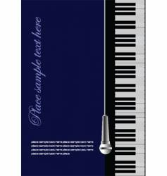 piano wit microphone vector image vector image