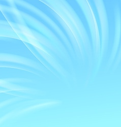 Blue light wave swoosh abstract background vector image