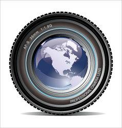 camera lens vector image