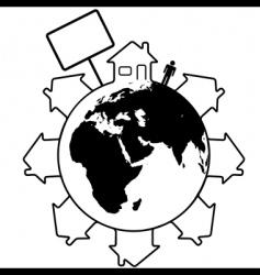 global housing vector image