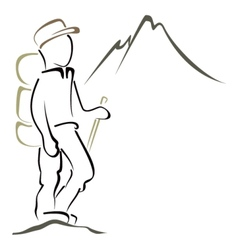 Mountaineering symbol vector image