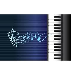 Piano music vector image vector image