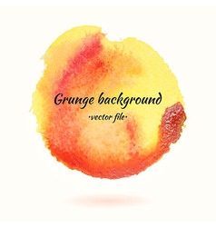 Watercolor Grunge Background Yellow and Orange vector image vector image