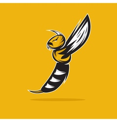 aggressive bee or wasp mascot design template vector image vector image