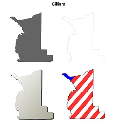 Gilliam Map Icon Set vector image vector image