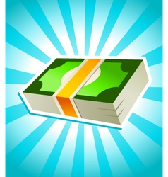 stack money vector image vector image