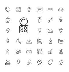 33 product icons vector
