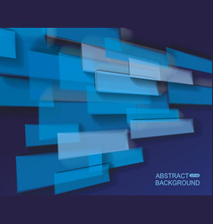abstract bright blue glass bricks composition vector image