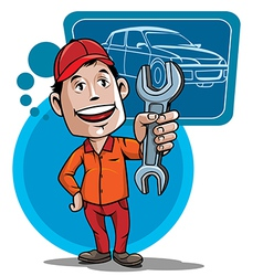 auto mechanic vector image
