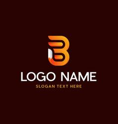 B fox letter modern abstract business logo vector