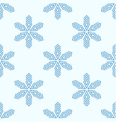 Background with blue frosty snowflakes vector