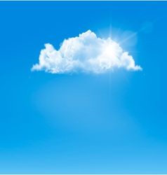 Background with blue sky and a cloud vector