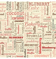 bakery words tags seamless pattern vector image