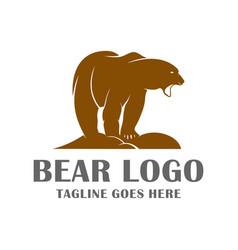 bear character logo vector image