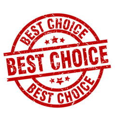 Best choice round red grunge stamp vector