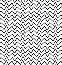 Black marker drawn simple uneven zigzag vector