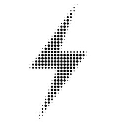 Black pixel electric bolt icon vector