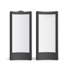 Black White Stands Pillars for Outdoor Advertising vector image