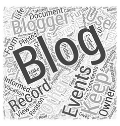 Blogging For Fun Word Cloud Concept vector